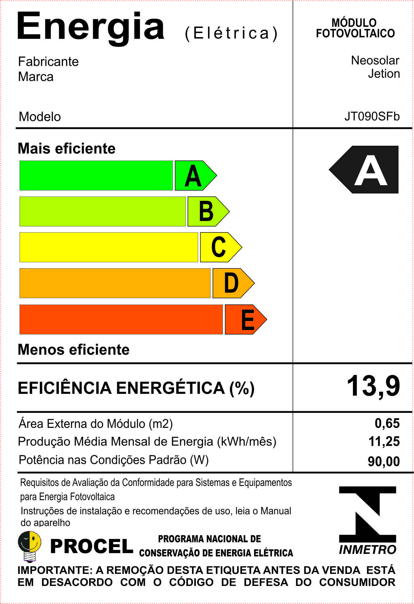 Etiqueta Modulo Neosolar-nov11