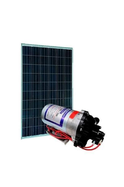 Kit bombeamento Solar - Shurflo 8000 - Painel Fotovoltaico 100Wp