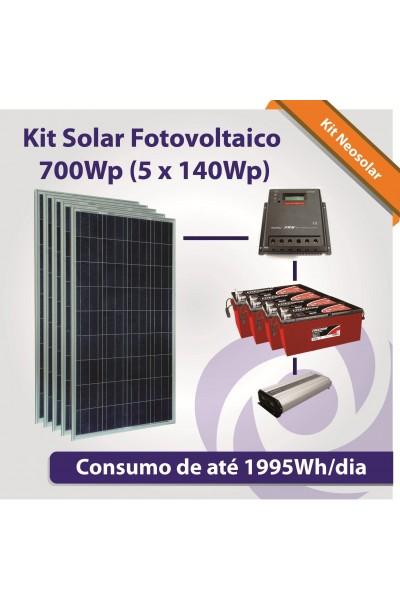 Kit Solar Fotovoltaico - Kit Sistemas Isolados - Off-Grid