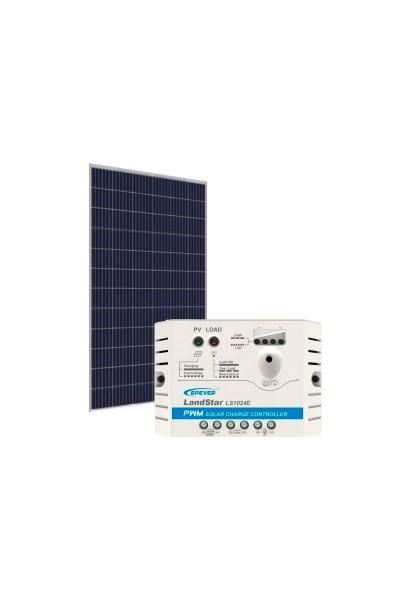 Kit Energia Solar Fotovoltaica 330Wp 12/24Vcc - até 1.088 Wh/dia