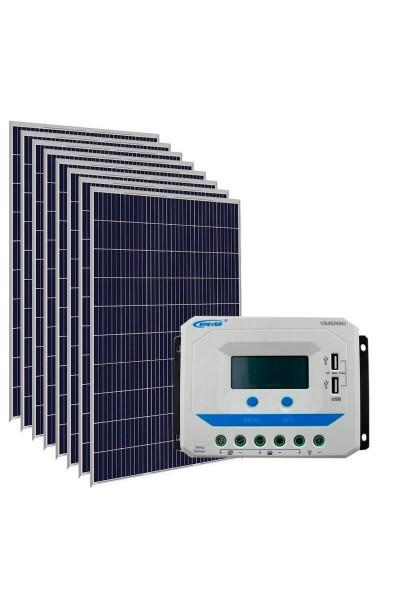 Kit Energia Solar Fotovoltaica 1500Wp 48Vcc - até 5.034 Wh/dia