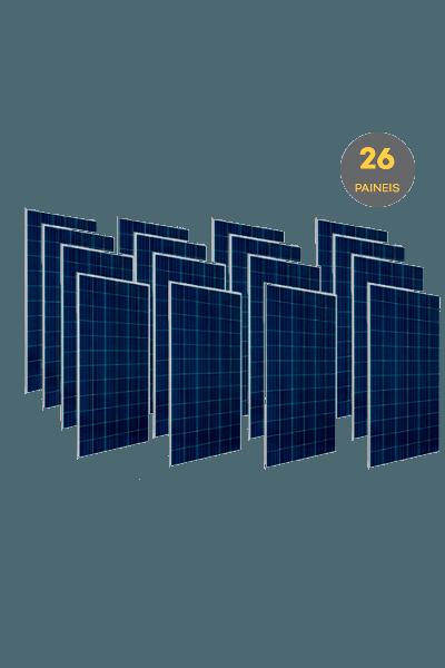 Pallet com 26 Painéis Solares Fotovoltaico