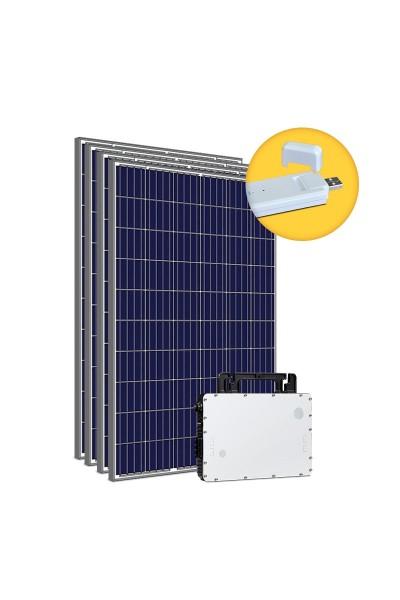 Kit Gerador Energia Solar 1,32 kWp - Sem Estrutura - Micro Inversor Hoymiles (WiFi) - Sunova - Mono 220V