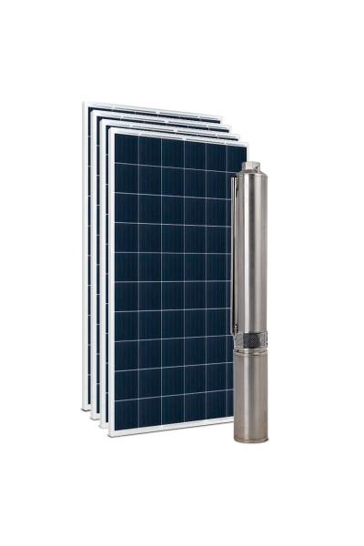 """Kit Bomba Solar PRO Samking 1HP 3"""" 3SPN2-9P STD - até 86m ou 22.200 L/dia"""
