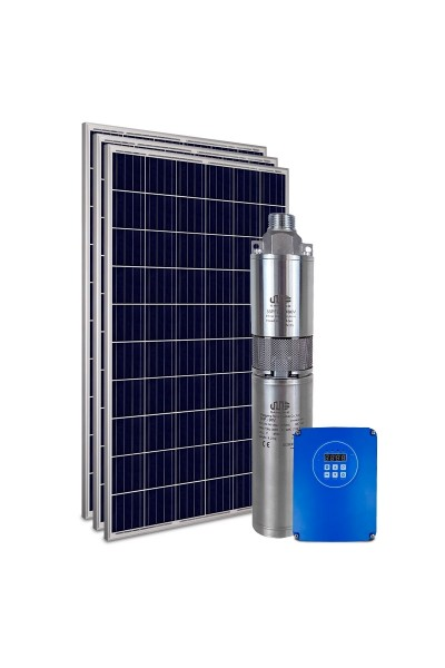 """Kit Bomba Solar PRO Samking 1HP 3"""" 3SPF2-110 STD - até 80m ou 11.760 L/dia"""