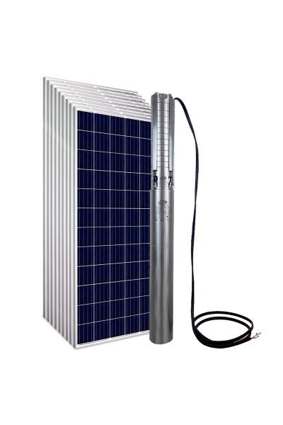 """Kit Bomba Solar PRO Samking 2HP 4"""" 4SP5-10 CC/CA MAXX - até 110m ou 59.760 L/dia"""