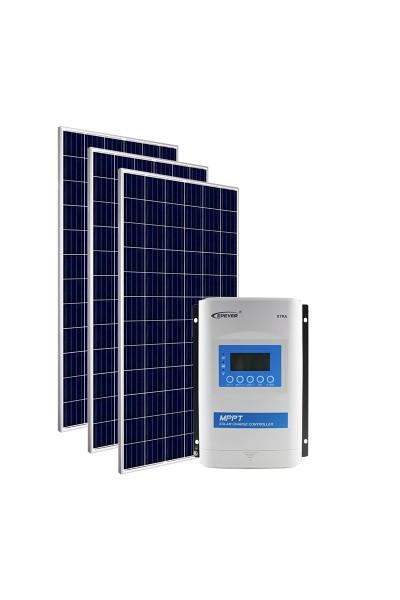 Kit Energia Solar Fotovoltaica 1005Wp 12/24Vcc - até 3.917 Wh/dia