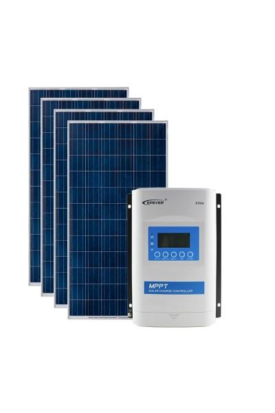 Kit Energia Solar Fotovoltaica 1360Wp 12/24Vcc - até 4.222 Wh/dia