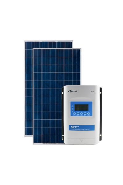 Kit Energia Solar Fotovoltaica 560Wp 12/24Vcc - até 2.183 Wh/dia