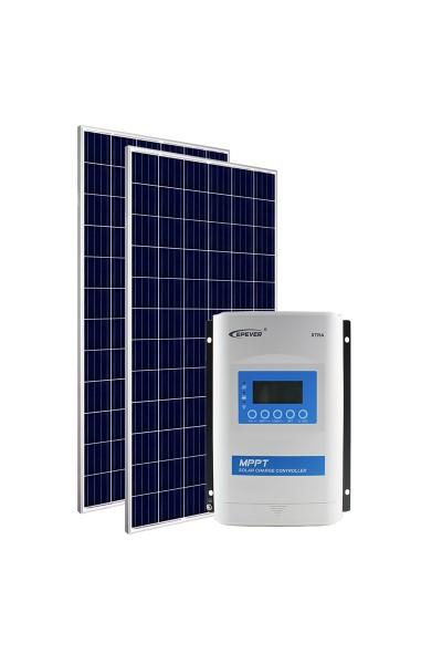 Kit Energia Solar Fotovoltaica 680Wp 12/24Vcc - até 2.611 Wh/dia