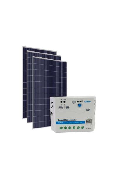 Kit Energia Solar Fotovoltaica 1005Wp 12/24Vcc - até 3.264 Wh/dia