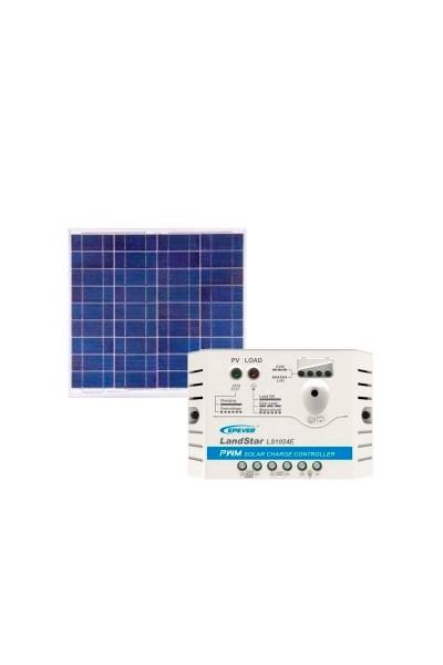 Kit Energia Solar Fotovoltaica 60Wp 12Vcc - até 195 Wh/dia