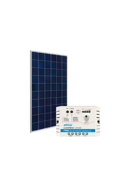 Kit Energia Solar Fotovoltaica 155Wp - até 487Wh/dia