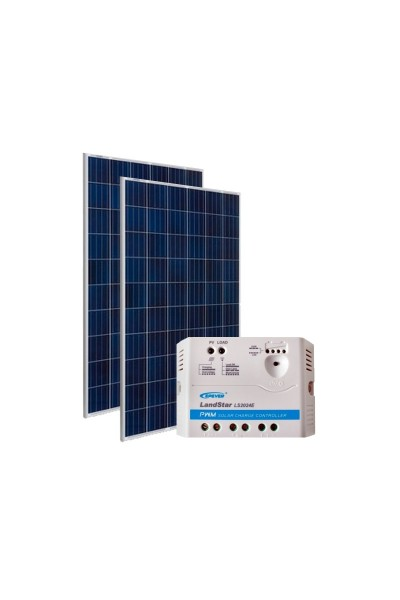 Kit Energia Solar Fotovoltaica 310Wp 12/24Vcc - até 1.007 Wh/dia