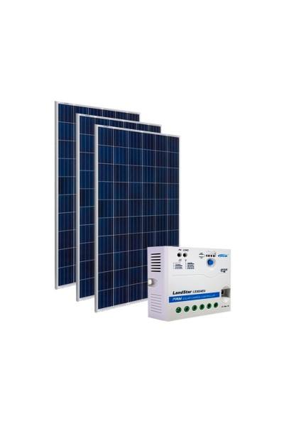 Kit Energia Solar Fotovoltaica 450Wp 12/24Vcc - até 1.510 Wh/dia