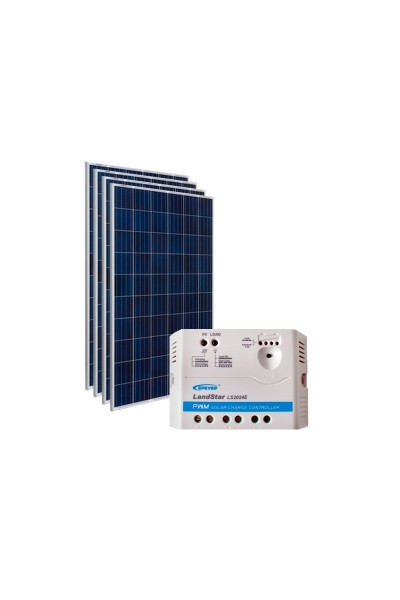 Kit Energia Solar Fotovoltaica 620 Wp - Kit Sistemas Isolados - Off-Grid
