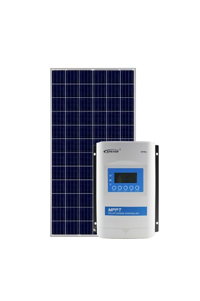 Kit Energia Solar Fotovoltaica 335Wp 12/24Vcc - até 1.306 Wh/dia