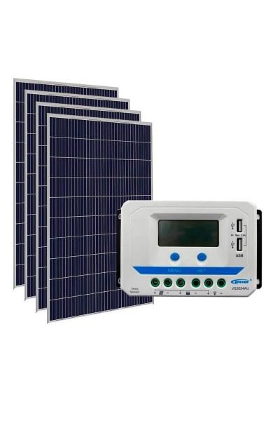 Kit Energia Solar Fovoltaica 620Wp 12Vcc