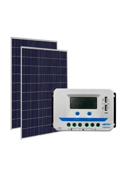 Kit Energia Solar Fotovoltaica 640Wp 48Vcc