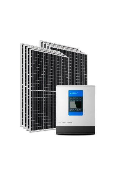Kit Energia Solar Off-Grid Híbrido 3200Wp 48Vcc 220Vca - P3000