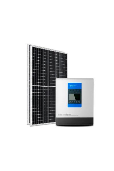 Kit Energia Solar Off-Grid Híbrido 790Wp 24Vcc 220Vca - P3000