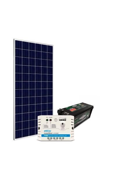 Kit de Energia Solar Off Grid 150Wp com Bateria