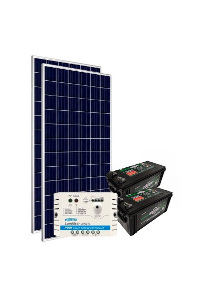 Kit de Energia Solar Off Grid 310Wp com Bateria