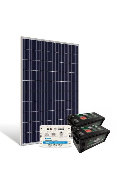 Kit de Energia Solar Off Grid 330Wp com Bateria