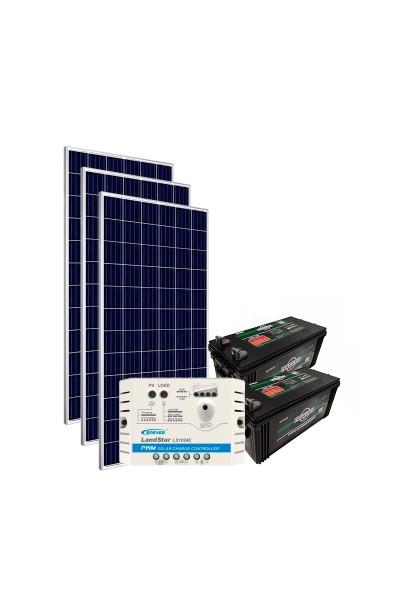 Kit de Energia Solar Off Grid 465Wp com Bateria
