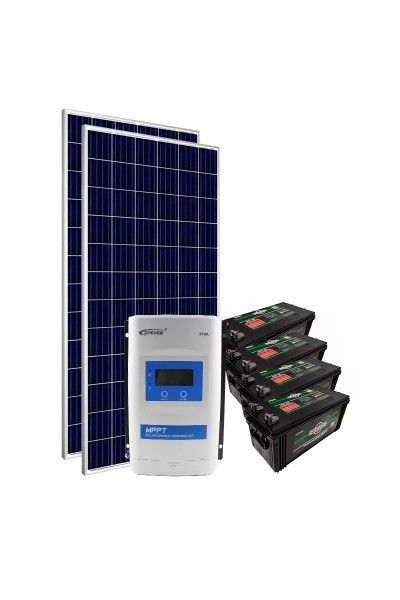 Kit de Energia Solar Off Grid 660Wp com Bateria