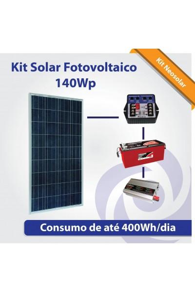 Kit Solar Fotovoltaico (Iluminação + TV + Pequeno Consumo)