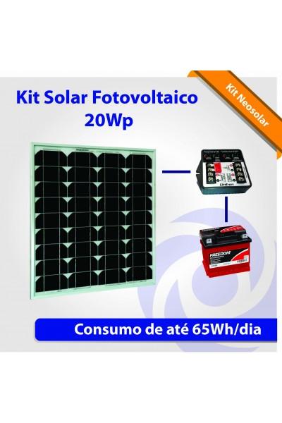 Energia Solar Fotovoltaica - Kit Neosolar 20Wp