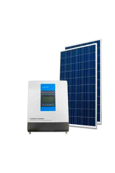 Kit Energia Solar Off Grid Híbrido 660Wp