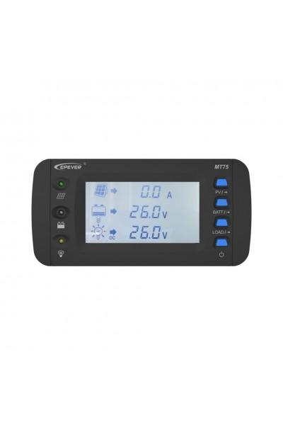 Medidor Remoto para Controlador de Carga e Inversor Solar EPEVER MT-75