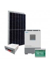 Kit Nobreak Solar Off Grid 1,2kWp c/ Bateria de Lítio