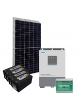 Kit Nobreak Solar Off Grid 1,2kWp c/ Bateria Solar