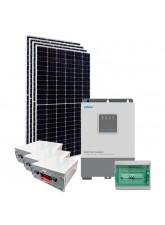 Kit Energia Solar Híbrido Off Grid 1,6kWp c/ Bateria de Lítio
