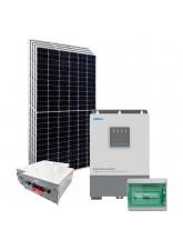Kit Nobreak Solar Off Grid 1,6kWp c/ Bateria de Lítio