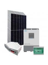 Kit Energia Solar Híbrido Off Grid 2,4kWp c/ Bateria de Lítio