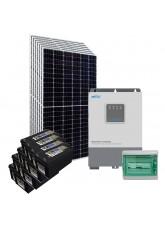Kit Energia Solar Híbrido Off Grid 2,8kWp c/ Bateria Solar