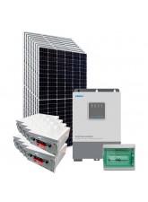 Kit Energia Solar Híbrido Off Grid 4,05kWp c/ Bateria de Lítio