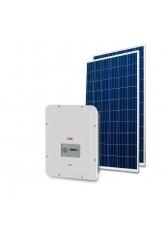 Gerador Solar 3,20kWp - Fibrocimento Madeira - Trina - ABB - Mon 220V