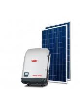 Gerador Solar 4,00kWp - Fibrocimento Madeira - QPeak - Fronius - Mono 220V
