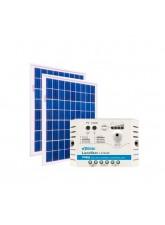 Kit Energia Solar Fotovoltaica 20Wp 12/24Vcc - até 65 Wh/dia