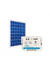 Kit Energia Solar Fotovoltaica 30Wp 12Vcc - até 97 Wh/dia