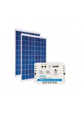 Kit Energia Solar Fotovoltaica 60Wp 12/24Vcc - até 195 Wh/dia