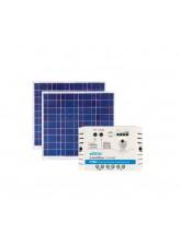Kit Energia Solar Fotovoltaica 120Wp - até 390Wh/dia