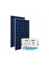Kit Energia Solar Fotovoltaica 300Wp 12/24Vcc - até 1.007 Wh/dia
