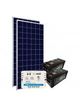 Kit de Energia Solar Off Grid 300Wp com Bateria
