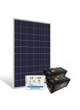 Kit de Energia Solar Off Grid 340Wp com Bateria